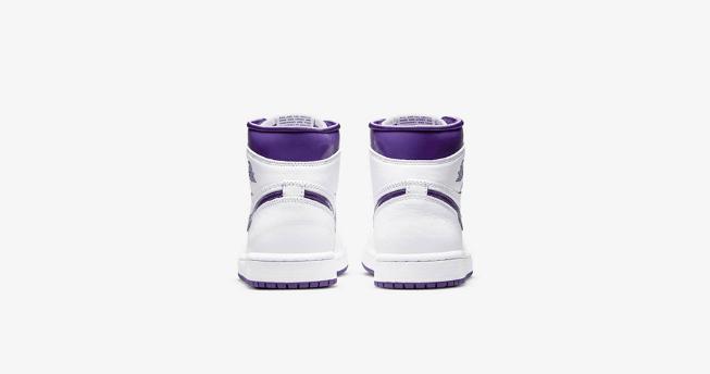 "AJ1白紫元年复刻 Air Jordan 1 High OG WMNS ""Court Purple"" 全新AJ1白紫配色实物图 货号:CD0461-151-潮流者之家"