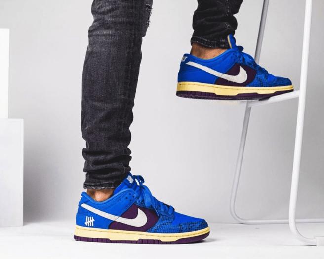 耐克Dunk UND联名蓝色低帮 UNDEFEATED x Nike Dunk Low 耐克Dunk蛇纹篮紫色 货号:DH6508-400-潮流者之家
