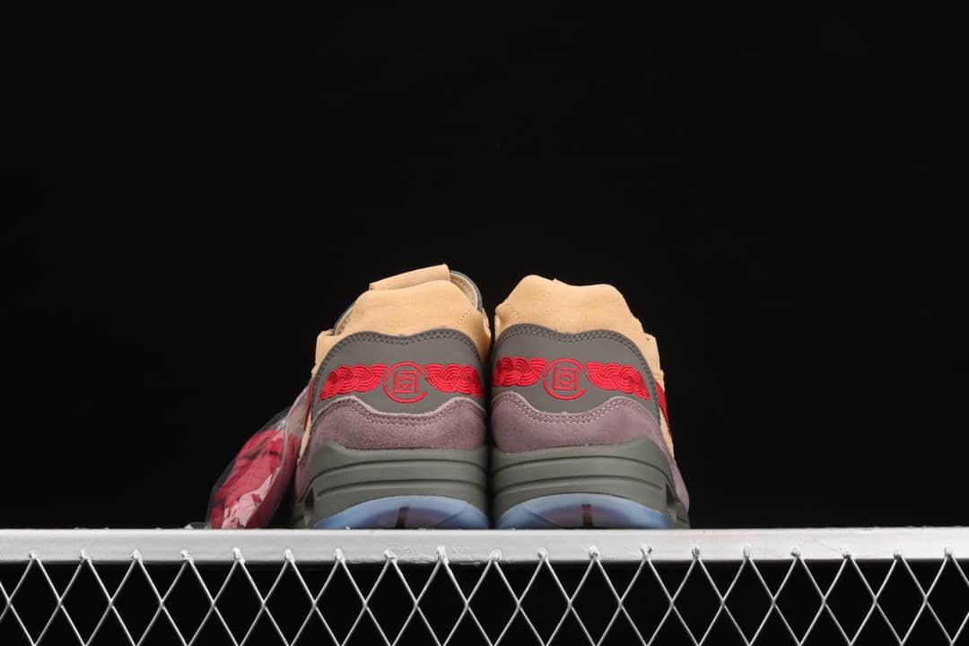 """耐克MAX1 CLOT联名款跑鞋 Clot x Nike Air Max 1""""Tea Leaf Brown"""" 耐克中国风跑鞋 耐克陈冠希联名 货号:DD1870-200-潮流者之家"""