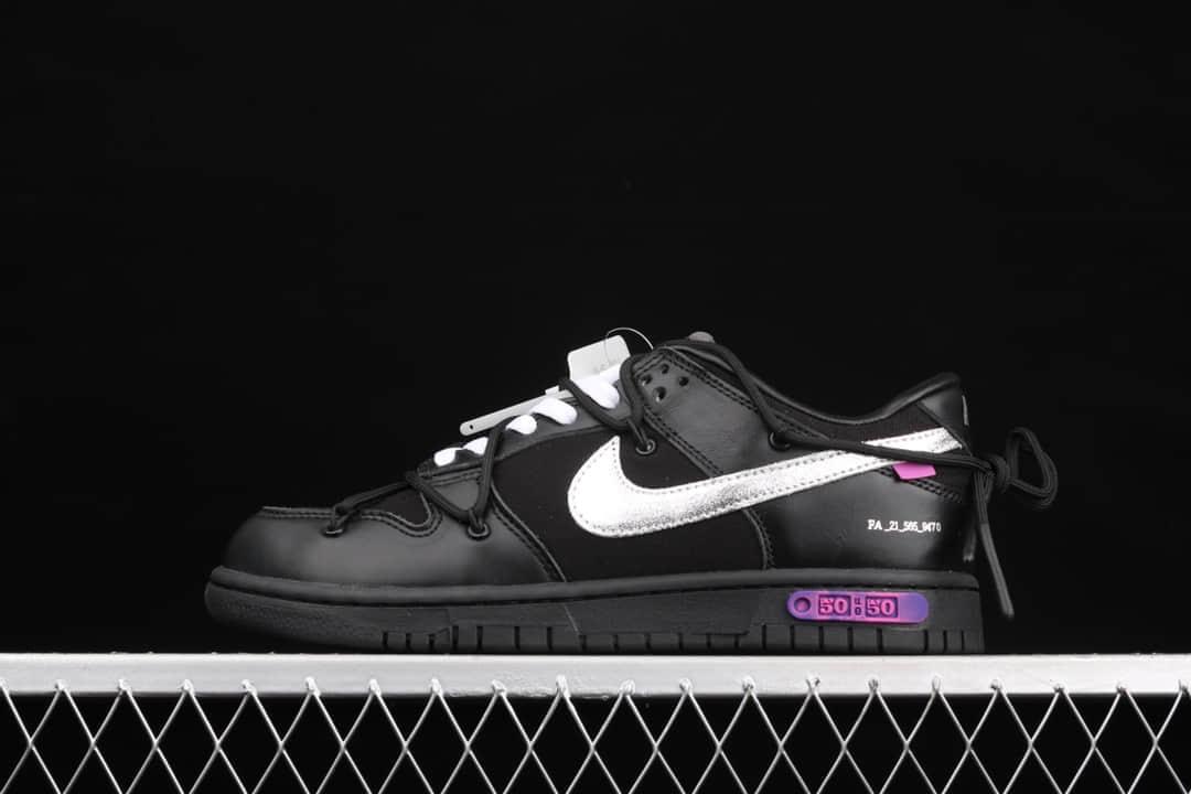 耐克Dunk OW联名黑色低帮 Off-White x Futura x Nike Dunk 耐克联名款复古低帮板鞋 货号:DM1602-001-潮流者之家