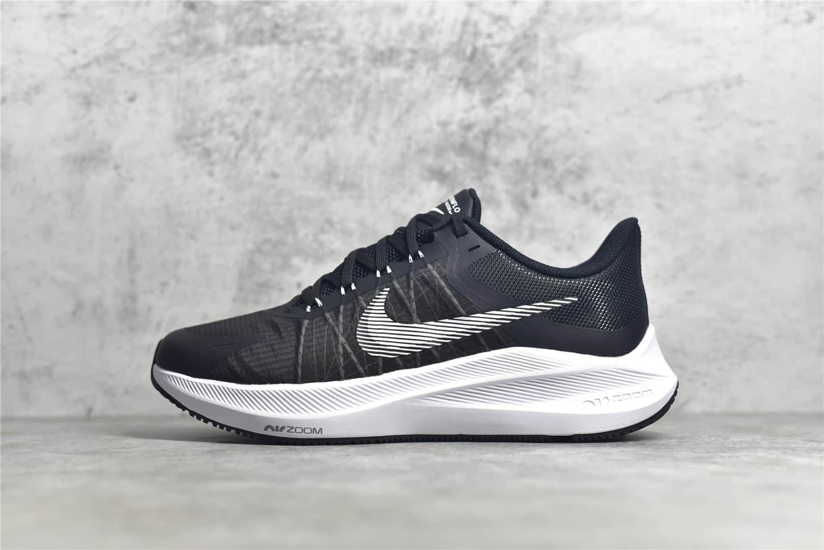 耐克登月8代黑色轻跑鞋 Nike Air Zoom Winflo 8代 耐克网面新款轻跑鞋 货号:CW3419-006-潮流者之家