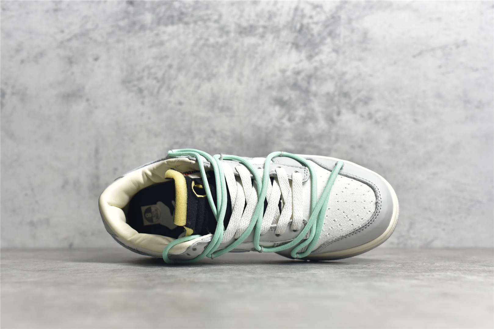 """耐克Dunk OW联名 0ff-White x Nike Dunk Low""""04 of 50"""" 耐克Dunk白灰色低帮联名款纯原复刻 货号:DM1602-114-潮流者之家"""