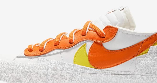 耐克Sacai联名 耐克开拓者Sacai联名白橙低帮 sacai x Nike Blazer Low 耐克开拓者解构低帮板鞋 货号:DD1877-100-潮流者之家