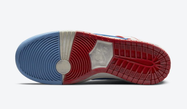 耐克保时捷联名 Ishod Wair x Magnus Walker x Nike SB Dunk High 耐克SB Dunk白蓝红高帮 货号:DH7683-100-潮流者之家