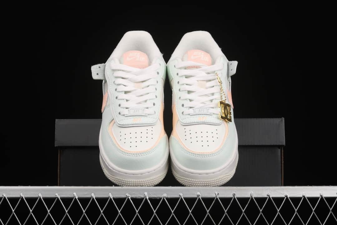耐克空军马卡龙蓝粉色低帮 Nike Air Force 1 Shadow 耐克空军纯原复刻 耐克空军在增高鞋 货号:CU8591-104-潮流者之家