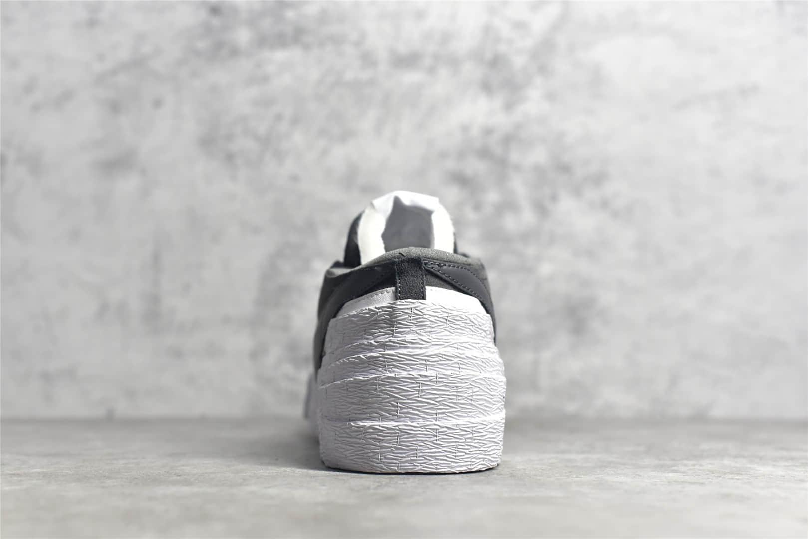 耐克Sacai联名黑色低帮 Sacai X Nike Blazer Low Dunk Dark Grey 耐克联名款低帮解构鞋 货号:DD1877-002-潮流者之家