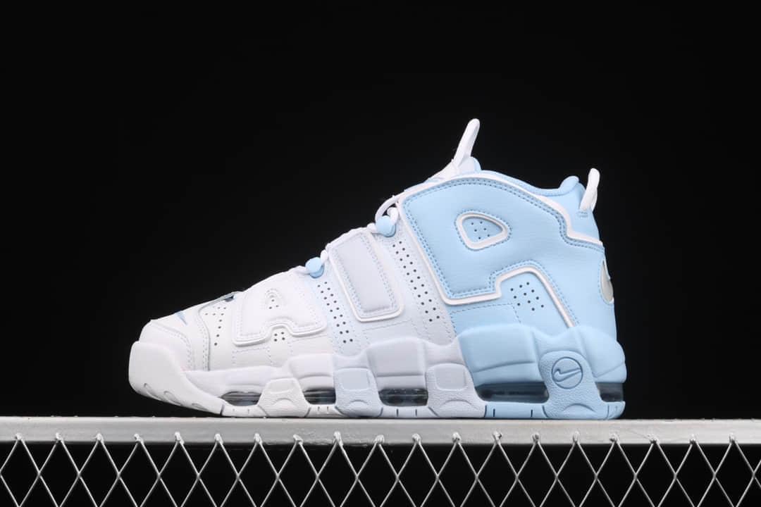 耐克皮蓬白蓝拼接实战篮球鞋 Nike Air More Uptempo 96 QS 原厂耐克皮蓬莆田复刻 货号:DJ5159-400-潮流者之家