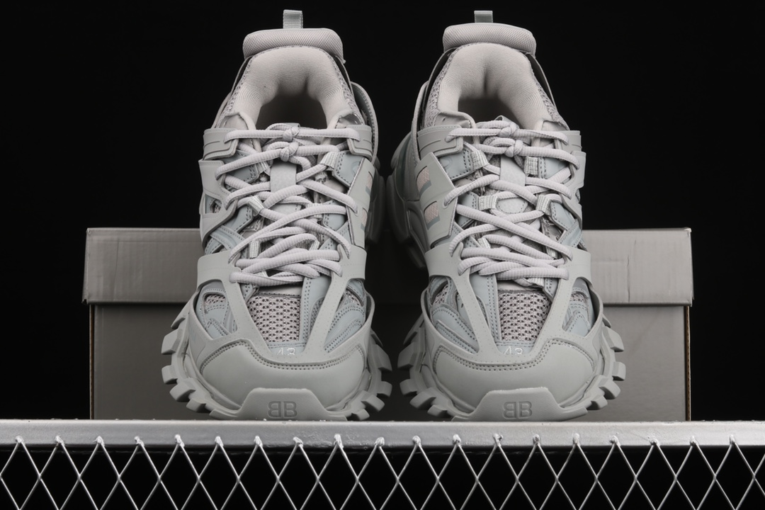 巴黎世家3代灰色老爹鞋意产代工 Balenciaga Sneaker Tess s.Gomma Res BI ALV 巴黎世家带灯老爹鞋 货号:W2LA13253-潮流者之家
