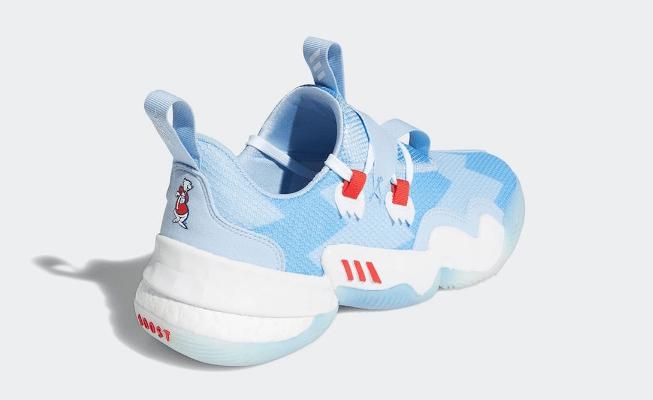 """阿迪达斯冰蓝篮球鞋 adidas Trae Young 1 """"Ice Trae"""" 全新特雷杨签名球鞋官图曝光 货号:H68997-潮流者之家"""