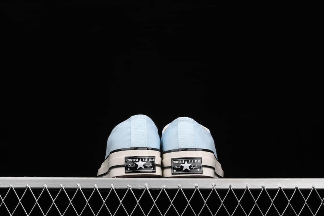 匡威1970S蓝色低帮 Converse Chuck 70s 匡威蓝色低帮帆布鞋 匡威湖水蓝 货号:570789C-潮流者之家