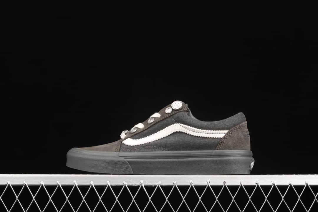 万斯C2H4联名灰色低帮帆布鞋 C2H4 x Vans Old Skool