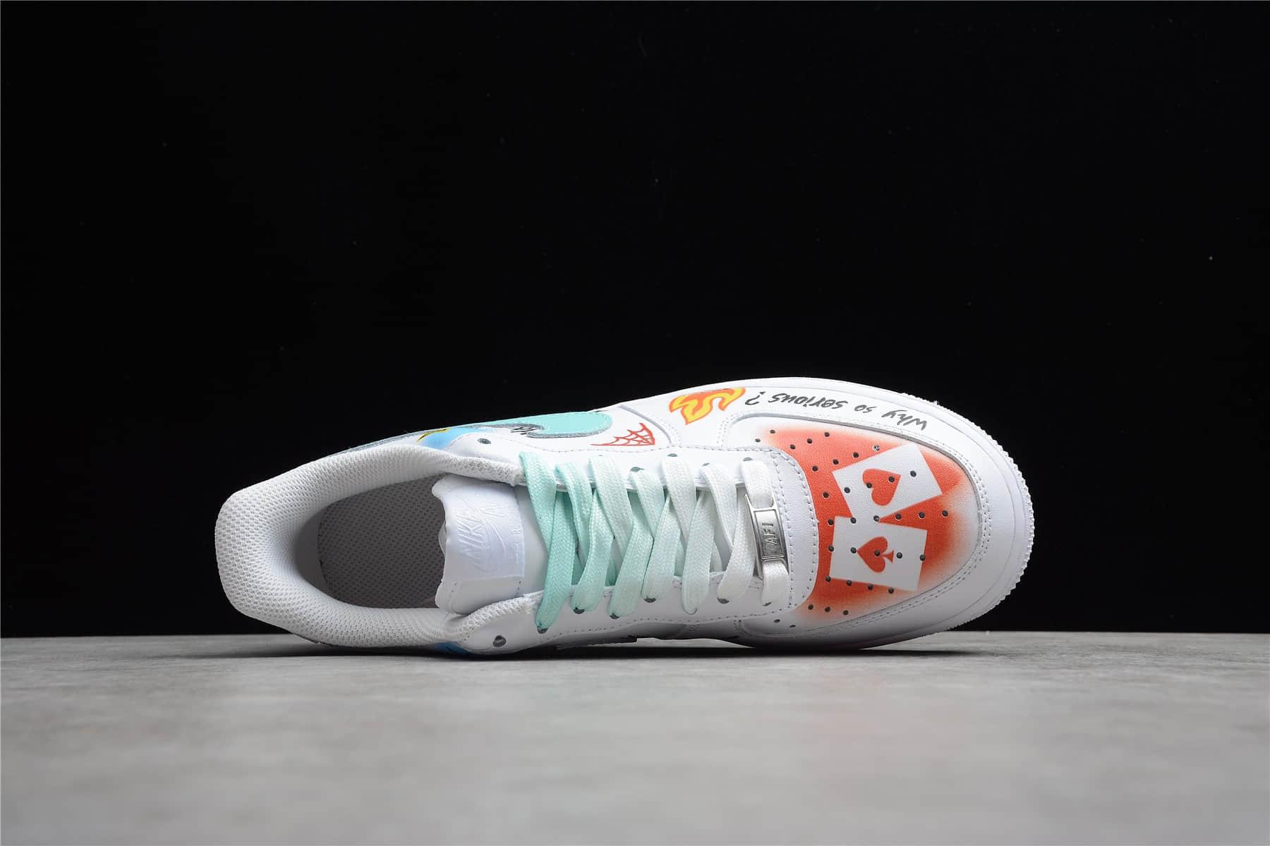 耐克空军鸳鸯板鞋 Nike Air Force 1 Low '07 空军 低帮 耐克空军涂鸦低帮板鞋 耐克空军纯原版本 货号:CW2288-111-潮流者之家