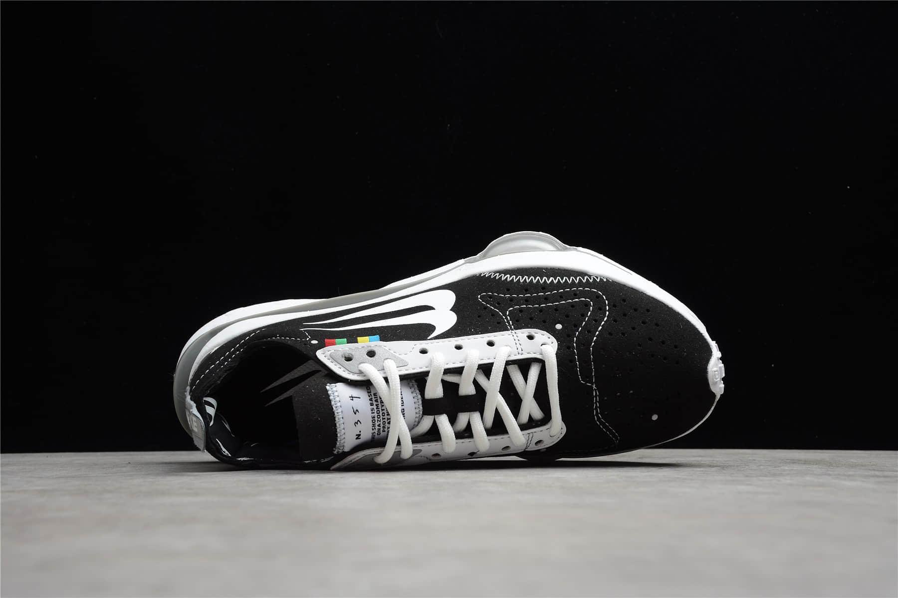 耐克N.354气垫双勾黑白气垫跑鞋 NIKE N.354 ZOOM-TYPE 耐克期解构阴阳黑白跑鞋 货号:DB2622-001-潮流者之家
