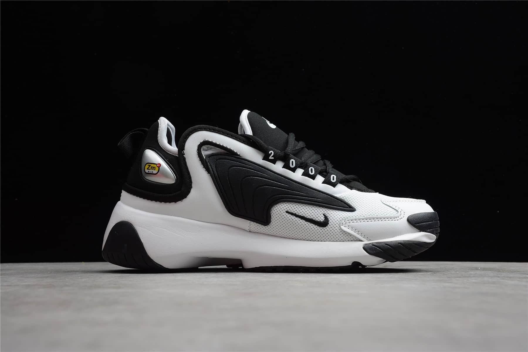 耐克2K黑白色跑鞋公司级版本 NIKE ZOOM 2K WMNS 耐克复古潮流老爹跑步运动鞋 货号:AO0354-100-潮流者之家