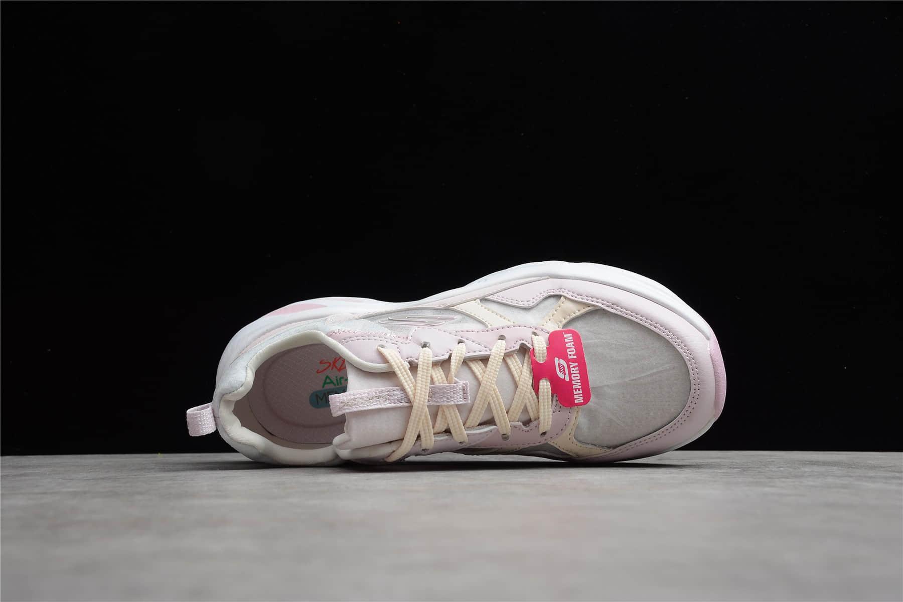 斯凯奇小白鞋 斯凯奇2021新款 Skechers 2021ss 斯凯奇粉色老爹鞋 斯凯奇增高鞋 货号:896003/LTPK-潮流者之家