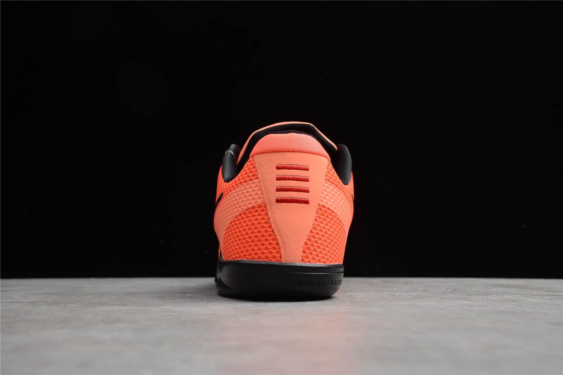 """科比11橙黑色实战篮球鞋 Nike Kobe 11 EM """"Bright Mango"""" 耐克科比 11 橙色球鞋 科比11EM 货号:836183-806-潮流者之家"""