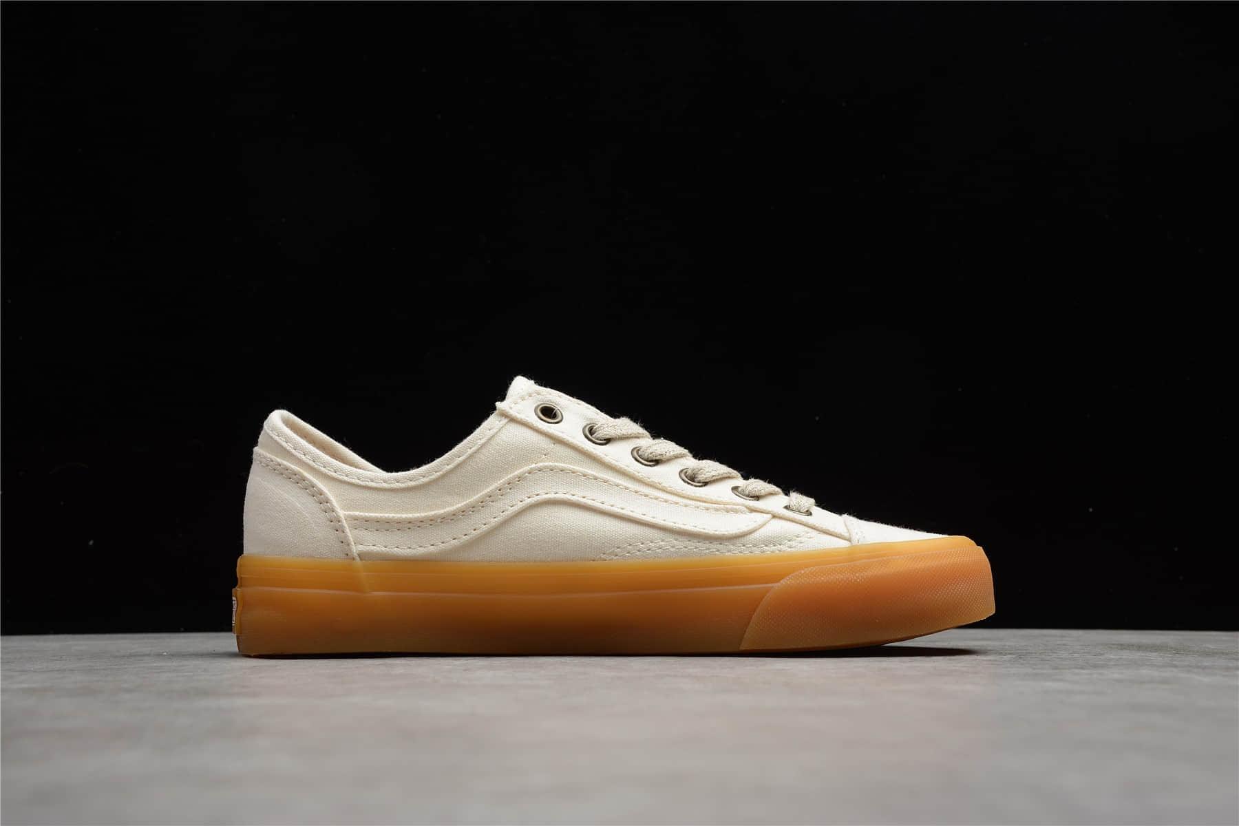 万斯低帮韩国限定米白生胶 Vans Style 36 万斯白色低帮帆布鞋 万斯生胶板鞋 货号:VN0A4U3V8PP-潮流者之家