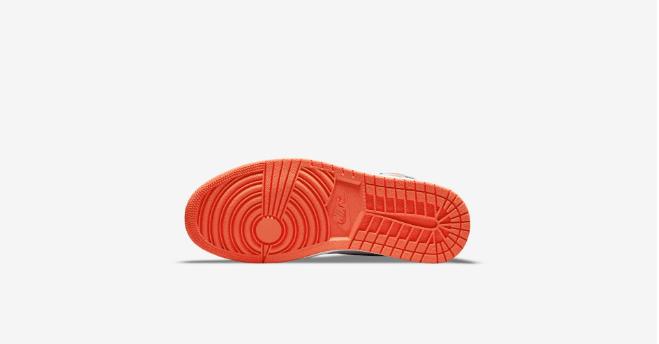 "AJ1扣碎篮板中帮 Air Jordan 1 Hi ""Electro Orange"" 全新AJ1白黑橙中帮预告 货号:555088-180-潮流者之家"