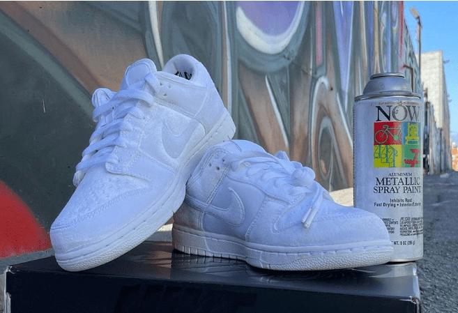 """耐克Dunk DSM联名白色 Dover Street Market x Nike Dunk Low """"Triple White"""" 耐克Dunk白色丝绒 货号:DH2686-100-潮流者之家"""
