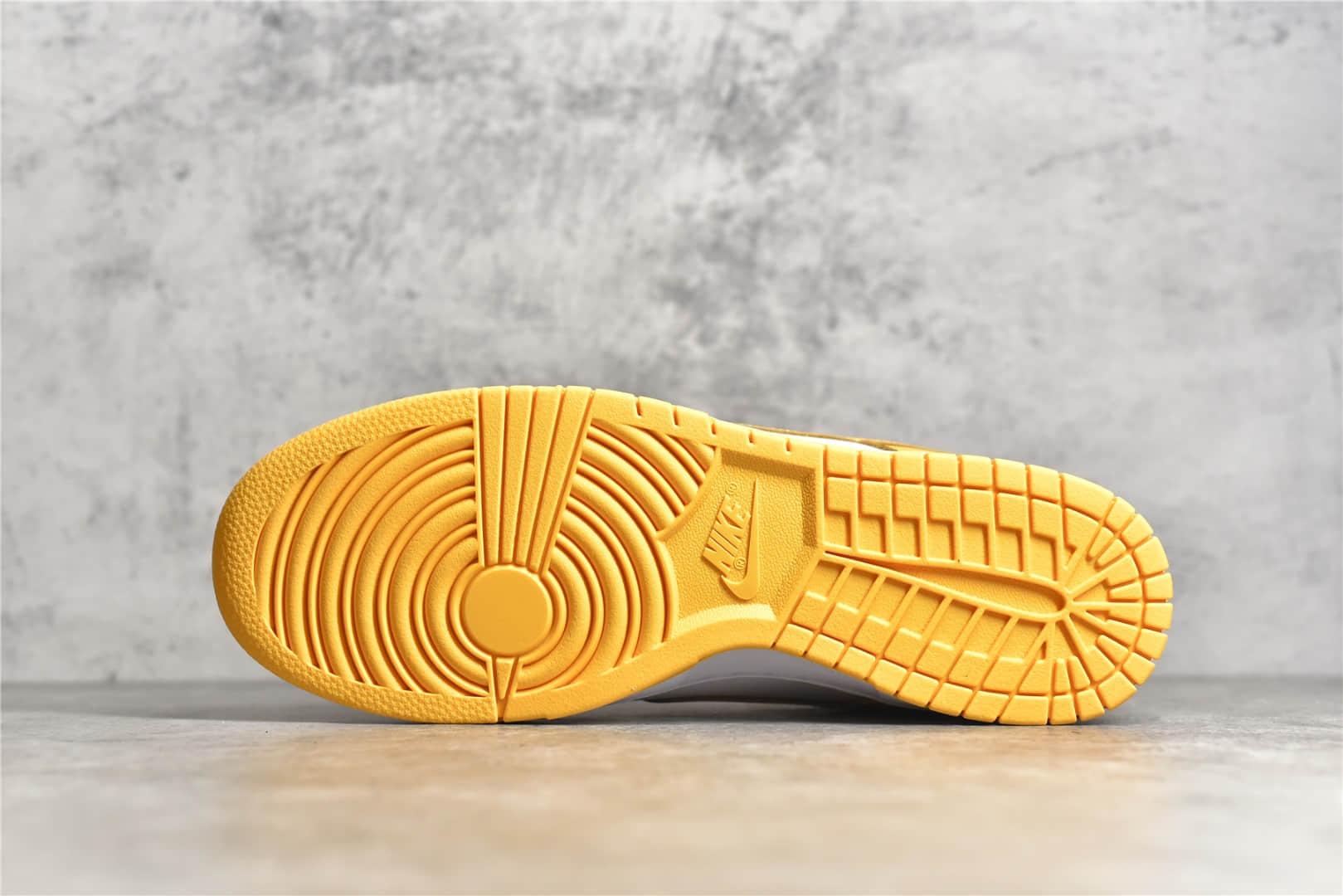 耐克Dunk白黄色低帮 NIKE SB DUNK LOW LASER ORANGE 耐克Dunk纯原版本 货号:DD1503-800-潮流者之家