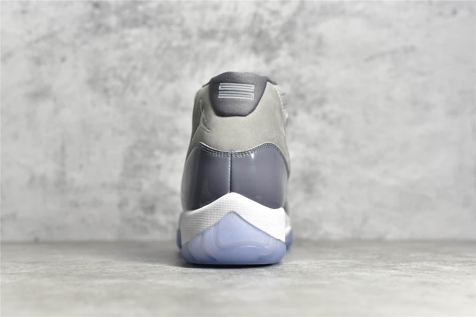"AJ11酷灰高帮实战篮球鞋 Air Jordan 11 ""Cool Grey"" 真碳纤维AJ11灰色原厂进口材质LJR纯原版本 货号:CT8012-005-潮流者之家"