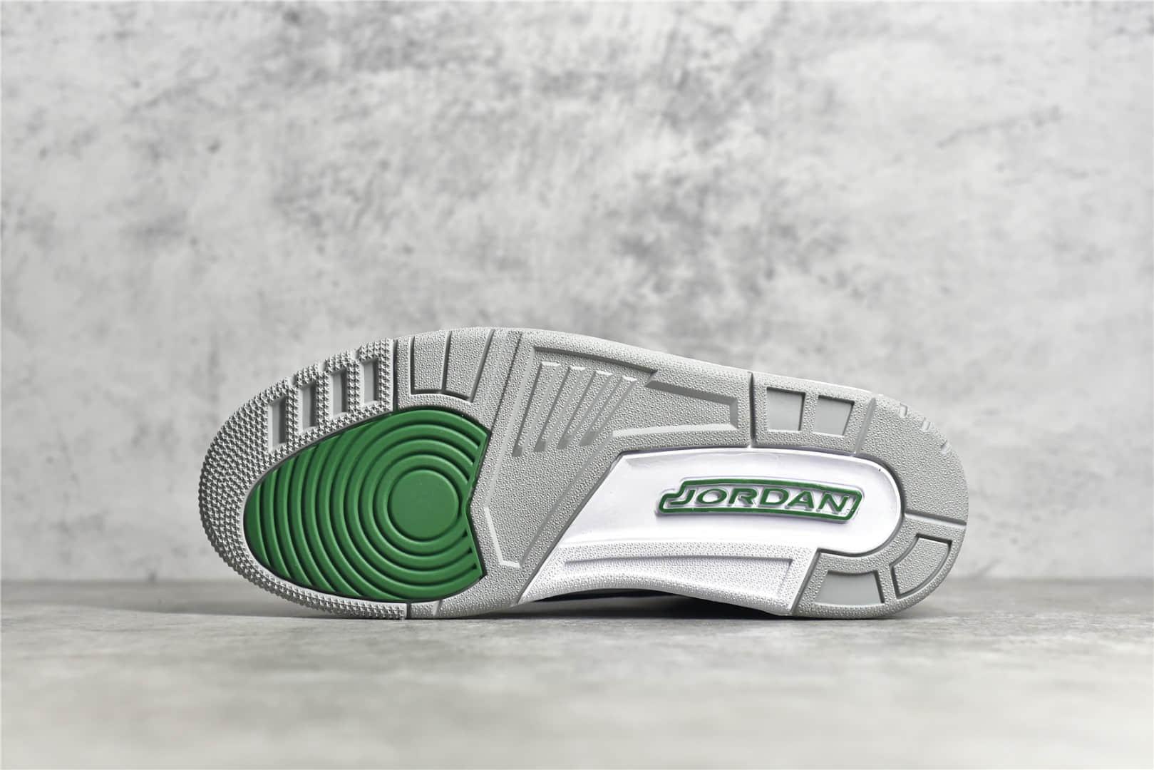 AJ3黑绿水泥缓震实战篮球鞋 Air Jordan 3 纯原版本原厂AJ3碳板 AJ3翻毛皮 货号:854262-001-潮流者之家