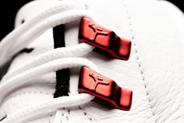 "AJ12红扣实物图 Air Jordan 12 ""Twist"" 全新AJ12白红配色曝光 AJ12 Twist实战球鞋 货号:CT8013-106-潮流者之家"