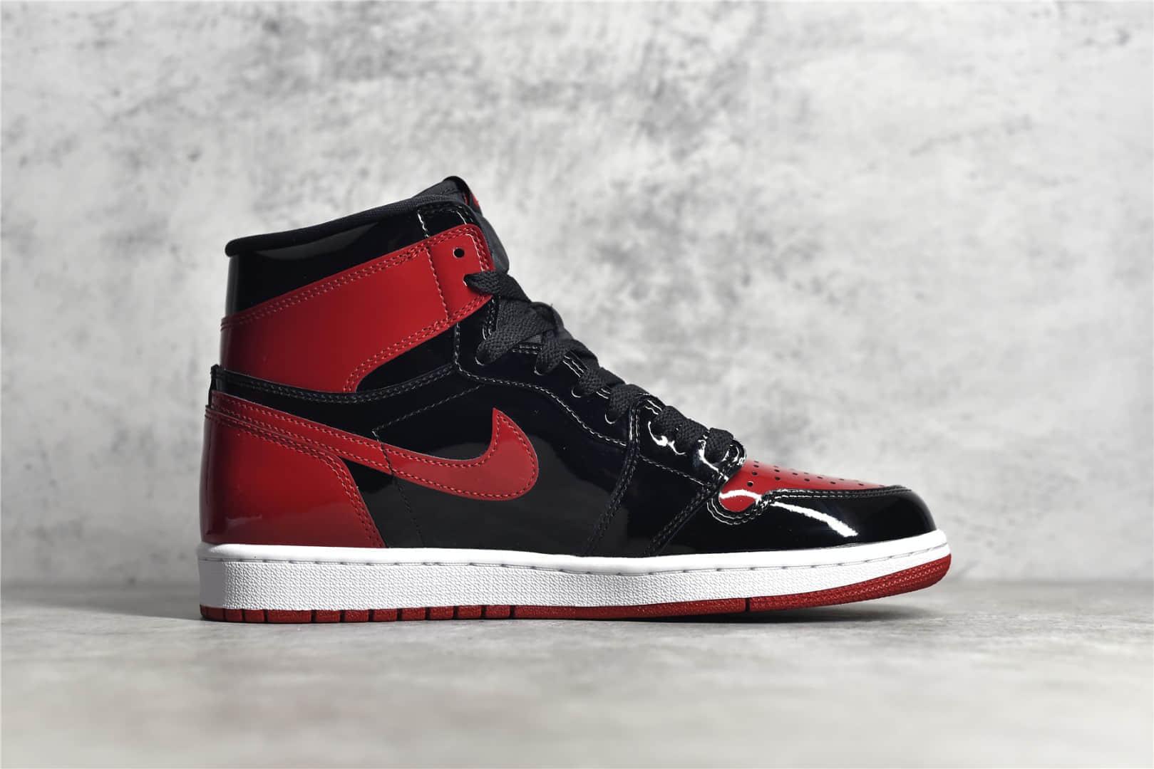 AJ1黑红漆皮高帮纯原版本 Air Jordan 1 High OG