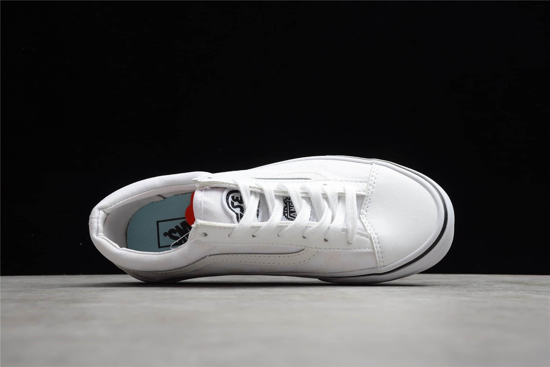 万斯BILKES联名白色低帮 VANS Style 36 X SE BILKES 万斯白色反光低帮板鞋 货号:VN0A54F64YS-潮流者之家