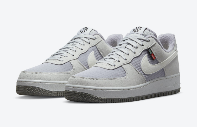 """耐克空军棉鞋灰色低帮 Nike Air Force 1 Low """"Toasty"""" 全新耐克棉鞋实物图 AF1灰色低帮 货号:DC8871-002-潮流者之家"""