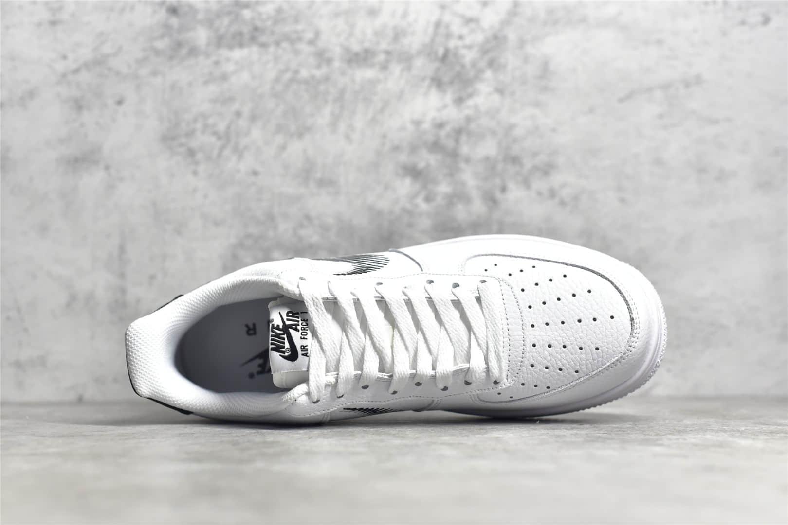 耐克空军白色低帮素描 Nike Air Force 1 Low 耐克空军荔枝皮进口头层皮质 耐克缓震板鞋 货号:DN4928-100-潮流者之家