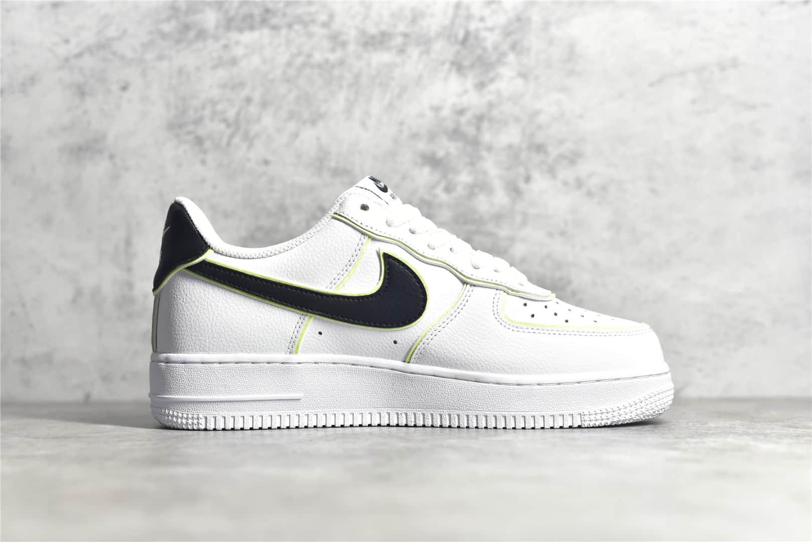 耐克空军一号白黑低帮 Nike Air Force 1 Low 07 耐克空军黑白夜光 耐克空军荔枝皮 货号:CW2288-304-潮流者之家