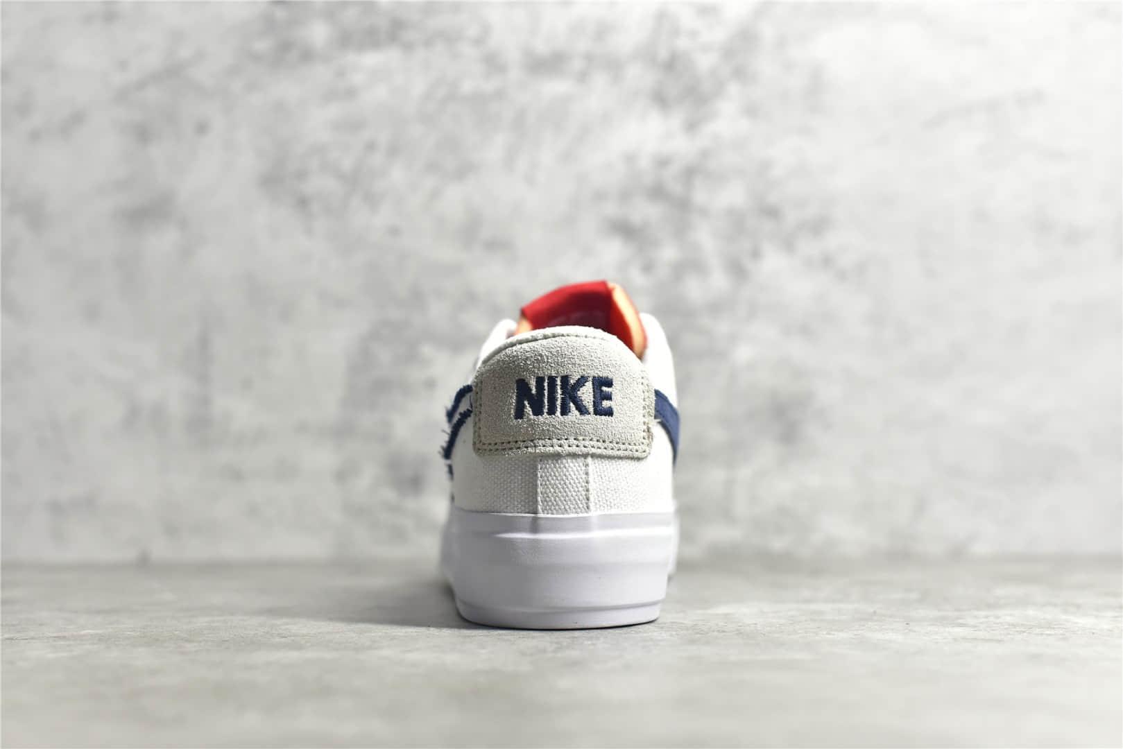 耐克开拓者拆线解构补丁低帮板鞋 Nike SB Zoom Blazer Mid 耐克SB ZOOM系列板鞋 货号:CI3833-100-潮流者之家