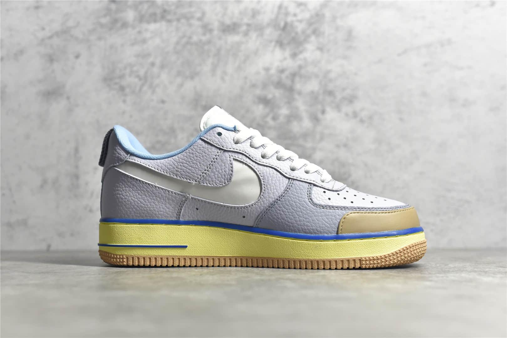 """耐克空军蓝罐曲奇 Nike Air Force 1 Premium """"Blue pot cookies"""" 耐克空军3M反光 耐克空军荔枝皮 货号:CV3039-102-潮流者之家"""