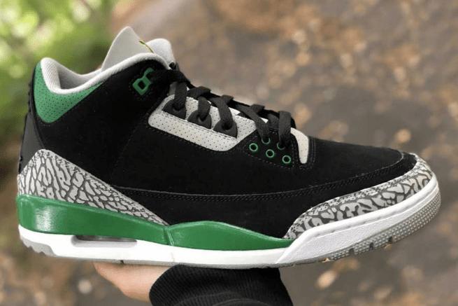 """AJ3黑绿实战球鞋实物图 Air Jordan 3 """"Pine Green"""" AJ3俄勒冈全新配色 货号:CT8532-030-潮流者之家"""