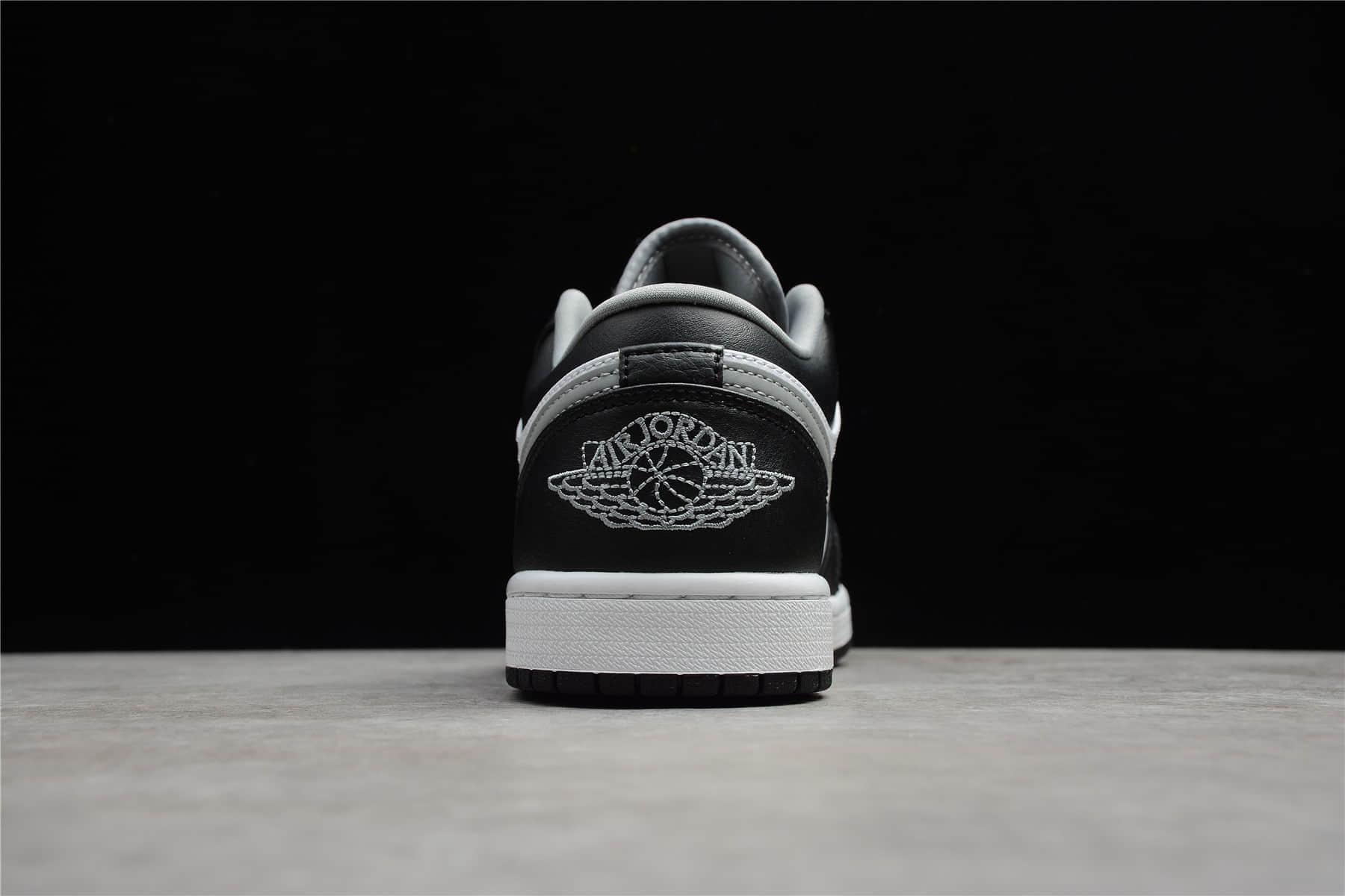 AJ1黑白灰低帮 Air Jordan 1 Low黑白灰 AJ1影子灰 CJ纯原版本AJ1货源渠道 货号:553558-040-潮流者之家