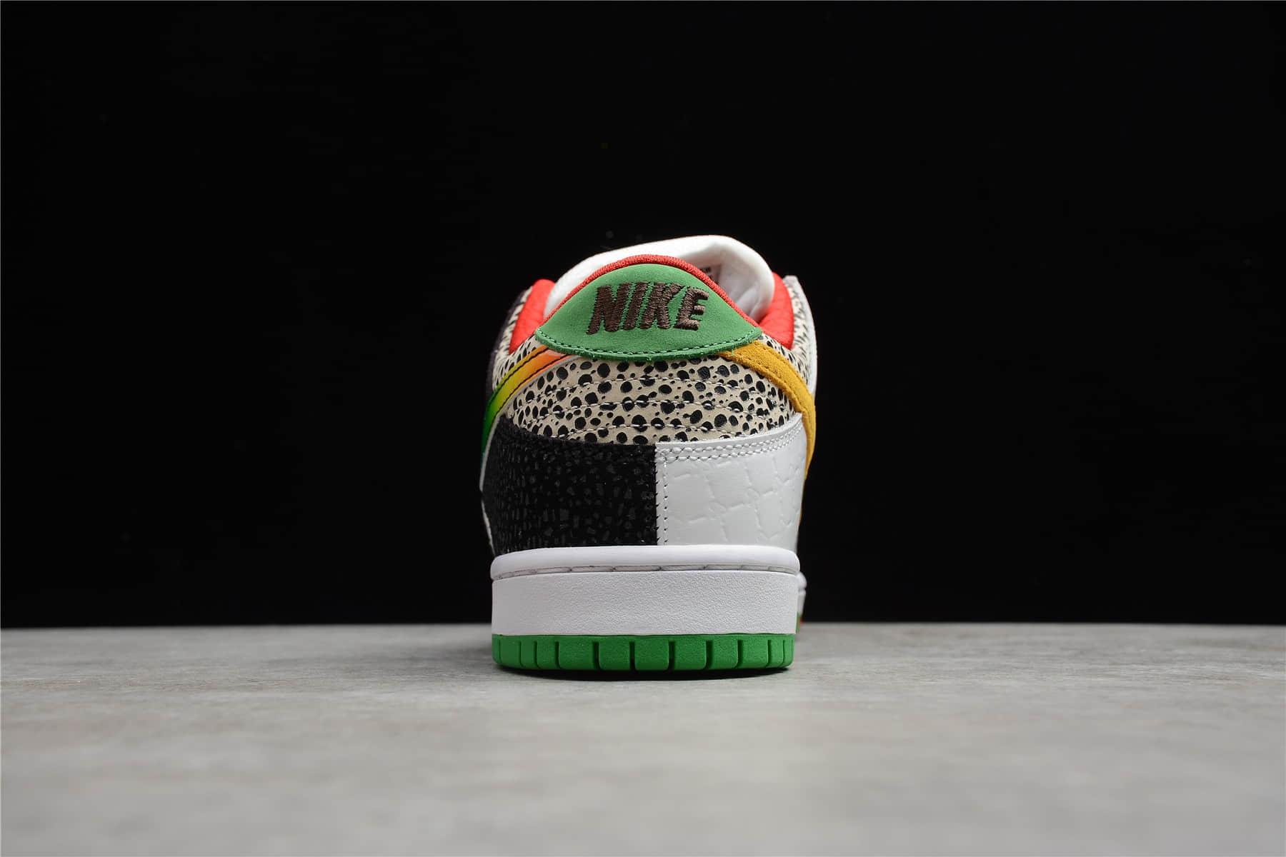 "耐克SB Dunk彩色拼接 Nike SB Dunk Low Pro QS ""What The P-Rod""Releases Tomorrow 耐克Dunk鸳鸯低帮板鞋 货号:CZ2239-600-潮流者之家"