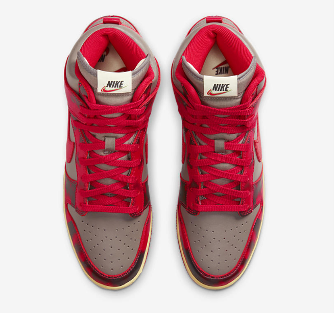 """耐克Dunk红色迷彩高帮 Nike Dunk Hi 1985 """"Red Acid"""" 全新耐克Dunk红色复古配色发售 货号:DD9404-600-潮流者之家"""