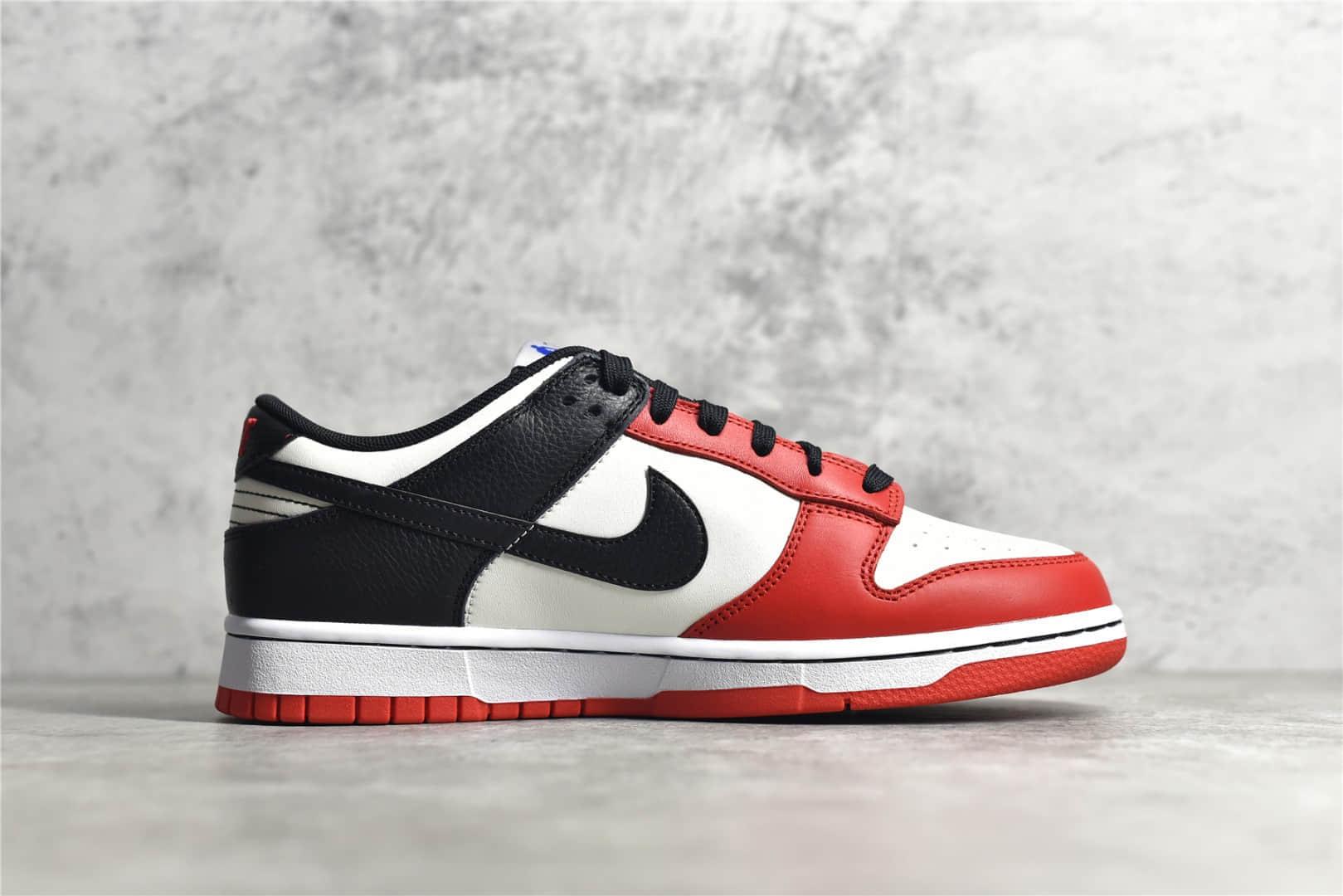 耐克SB Dunk芝加哥低帮 Nike SB Dunk Low 黑白红75周年 芝加哥公牛队 耐克SB Dunk黑白红低帮 货号:DD1503-109-潮流者之家