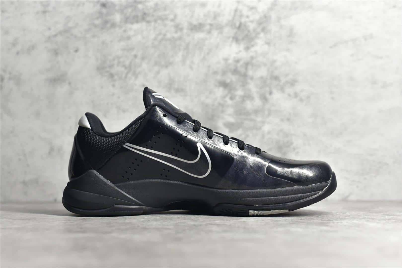 耐克科比5黑武士实战球鞋 NIKE KOBE 5 BLACK OUT 莆田耐克科比球鞋复刻 真碳缓震球鞋 货号:386429-003-潮流者之家