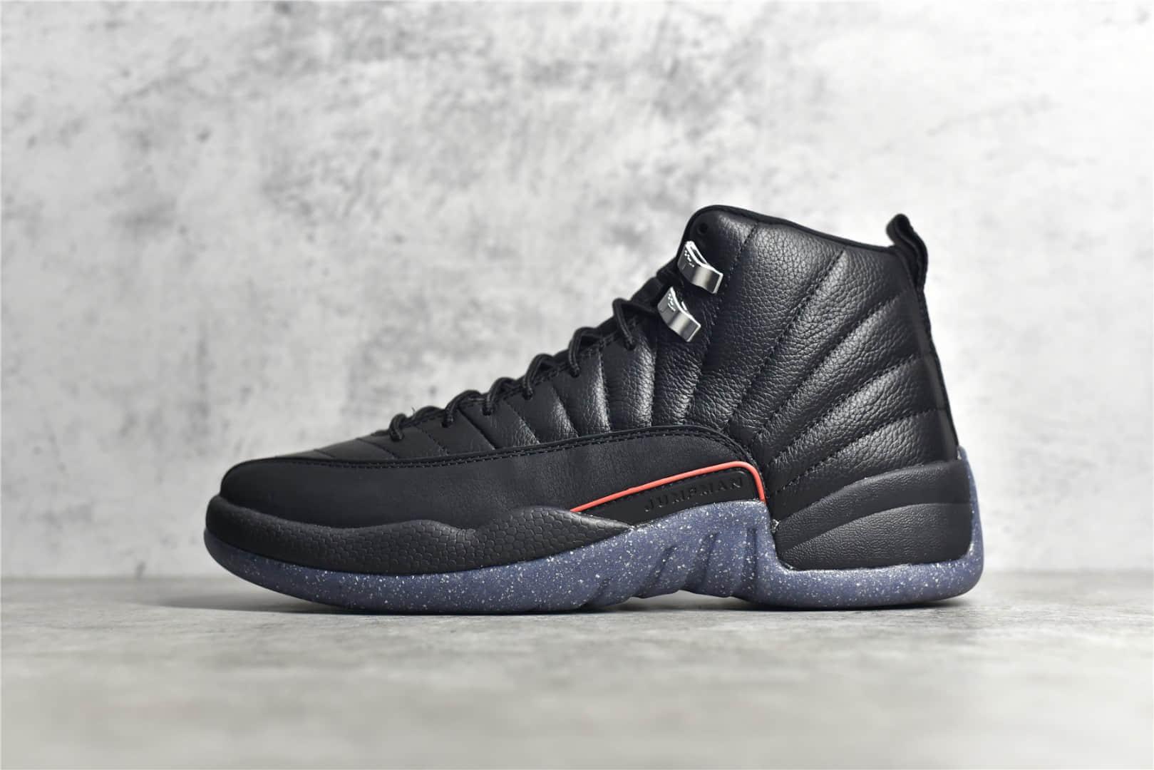 AJ12黑色高帮篮球鞋 Air Jordan 12 AJ12乔12男子文化篮球鞋 AJ12真碳缓震实战球鞋 货号:DC1062-006-潮流者之家
