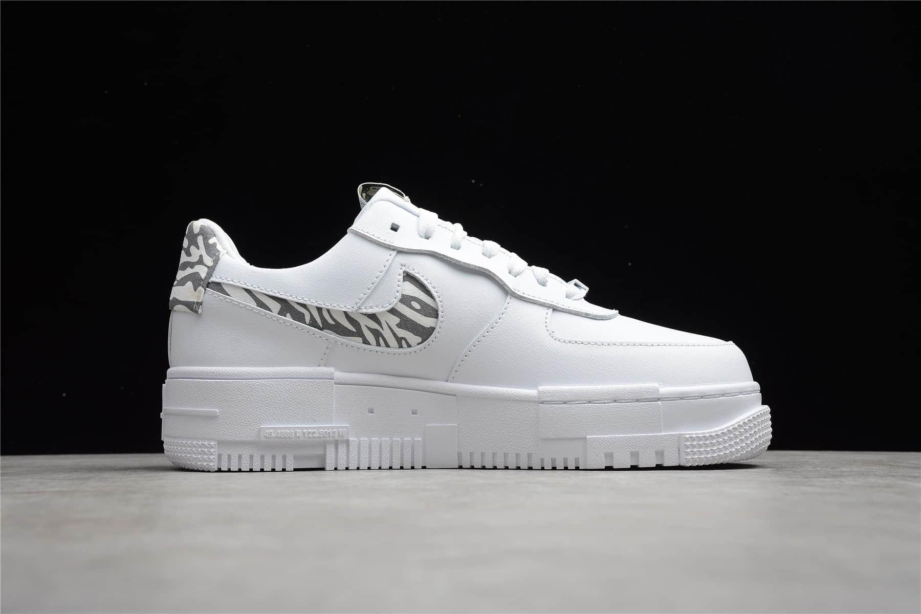 耐克空军一号像素镂空 Nike Air Force 1 Pixel Leopard 耐克空军一号斑马纹低帮 货号:DH9632-100-潮流者之家