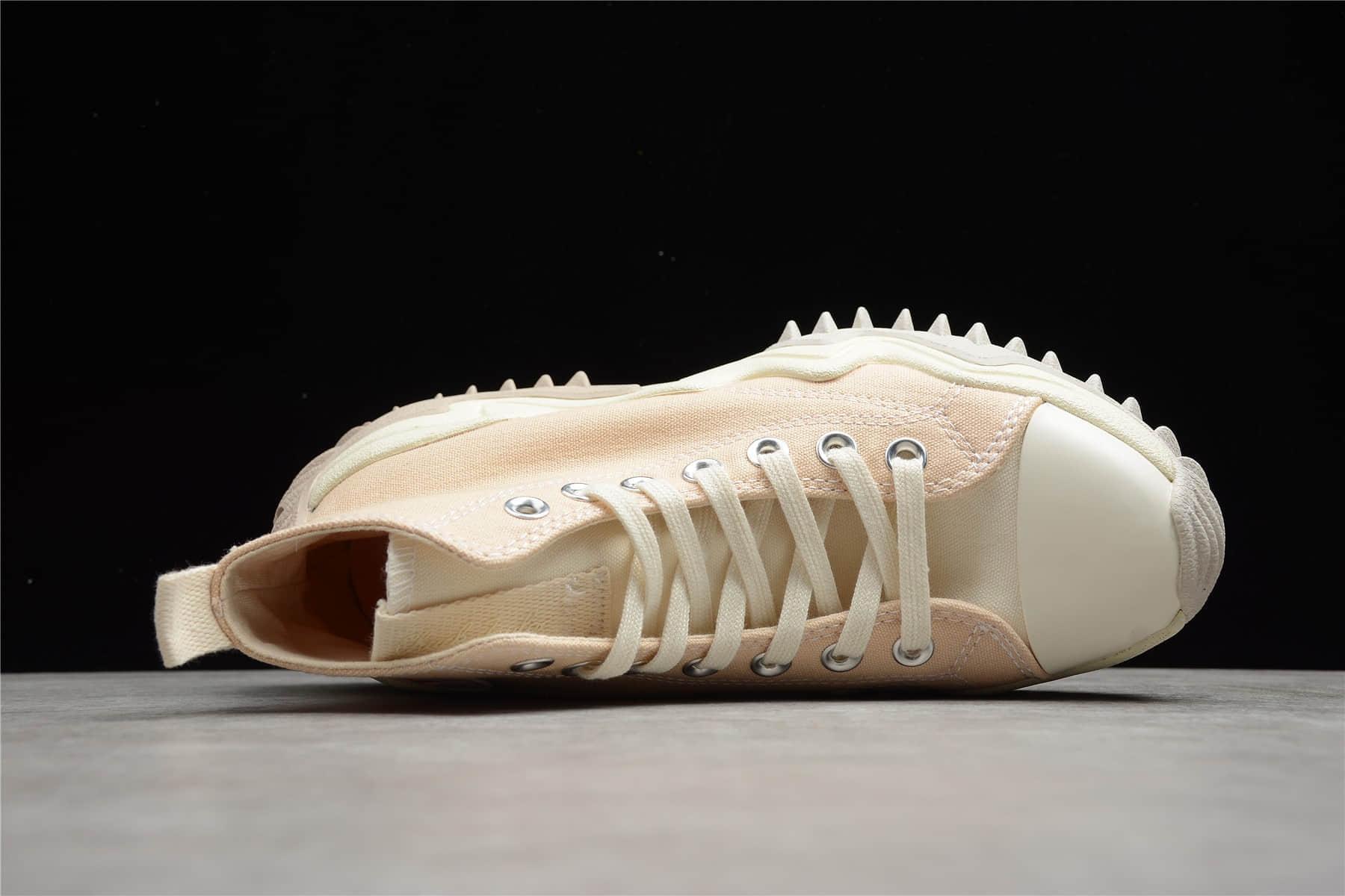 匡威厚底松糕鞋未来电波奶茶色 Converse Run Star Motion 匡威新款松糕鞋 匡威增高鞋 货号:171547C-潮流者之家