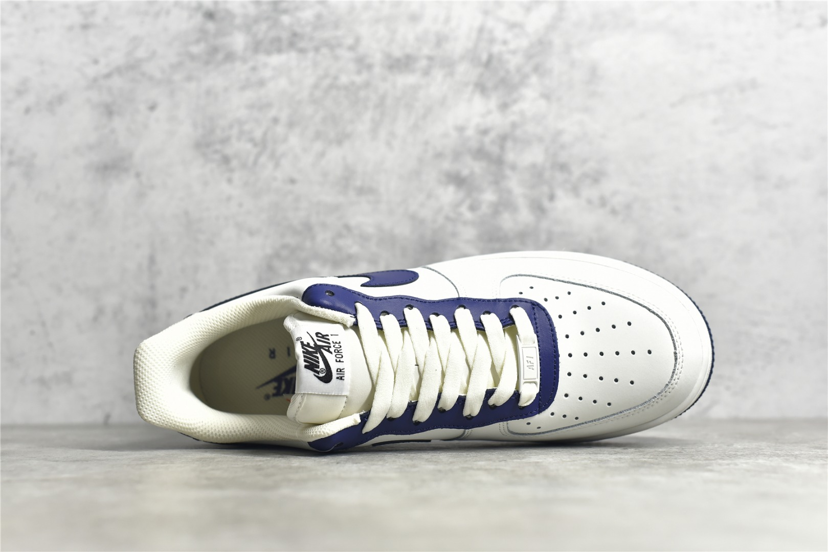 耐克空军白蓝低帮 Nike Air Force 1 Low 耐克空军米蓝拼接 耐克空军复刻 货号:AL2236-106-潮流者之家