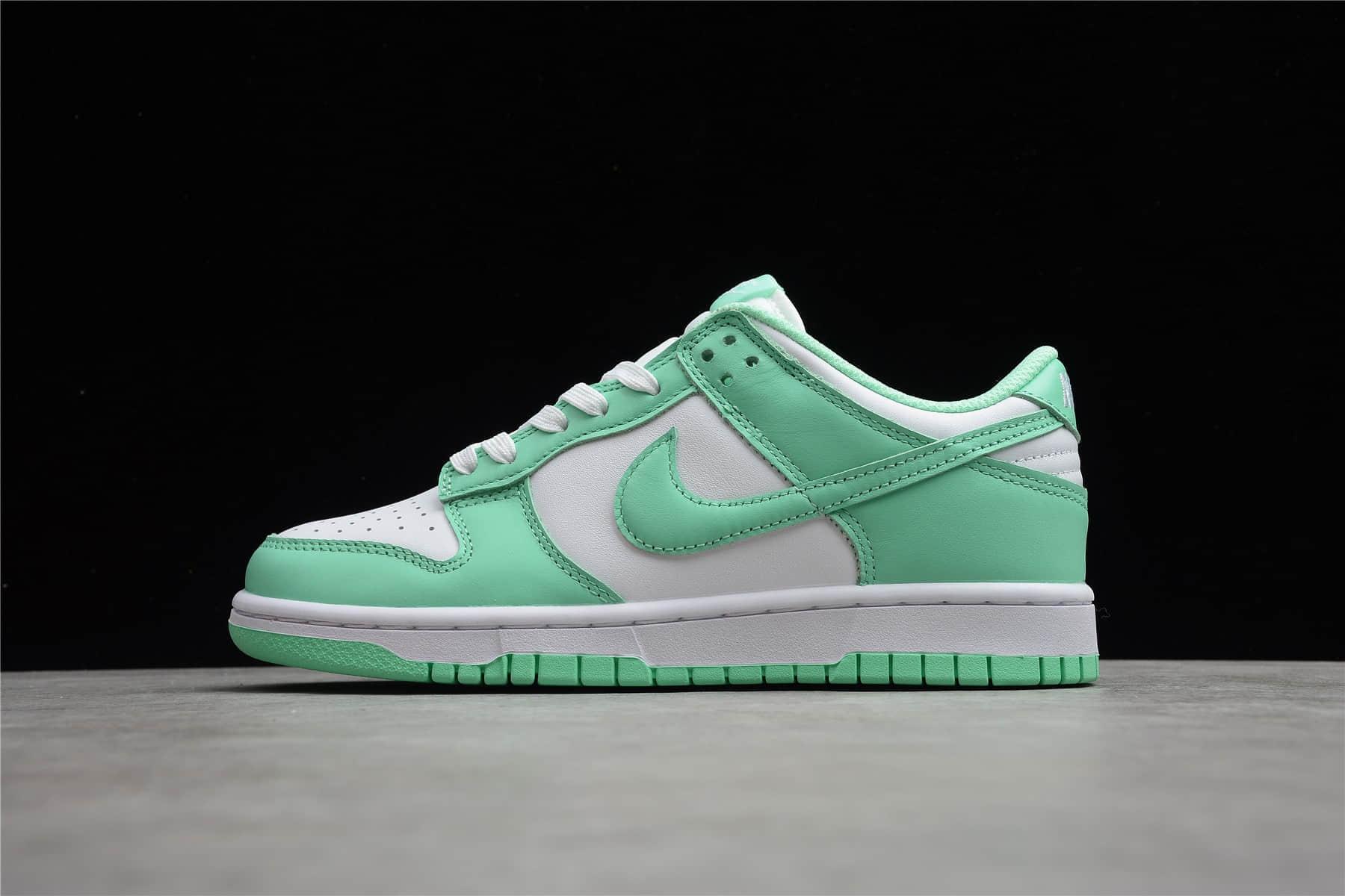 """耐克Dunk蒂芙尼绿白低帮 Nike Dunk Low WMNS """"Green Glow"""" 耐克Dunk原厂复刻 耐克Dunk薄荷绿 货号:DD1503-105-潮流者之家"""