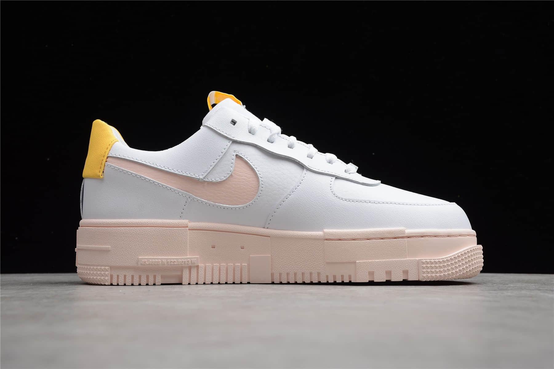耐克空军像素白粉低帮板鞋 Nike Air Force 1 Pixel 耐克空军一号解构鞋 货号:DM3054-100-潮流者之家