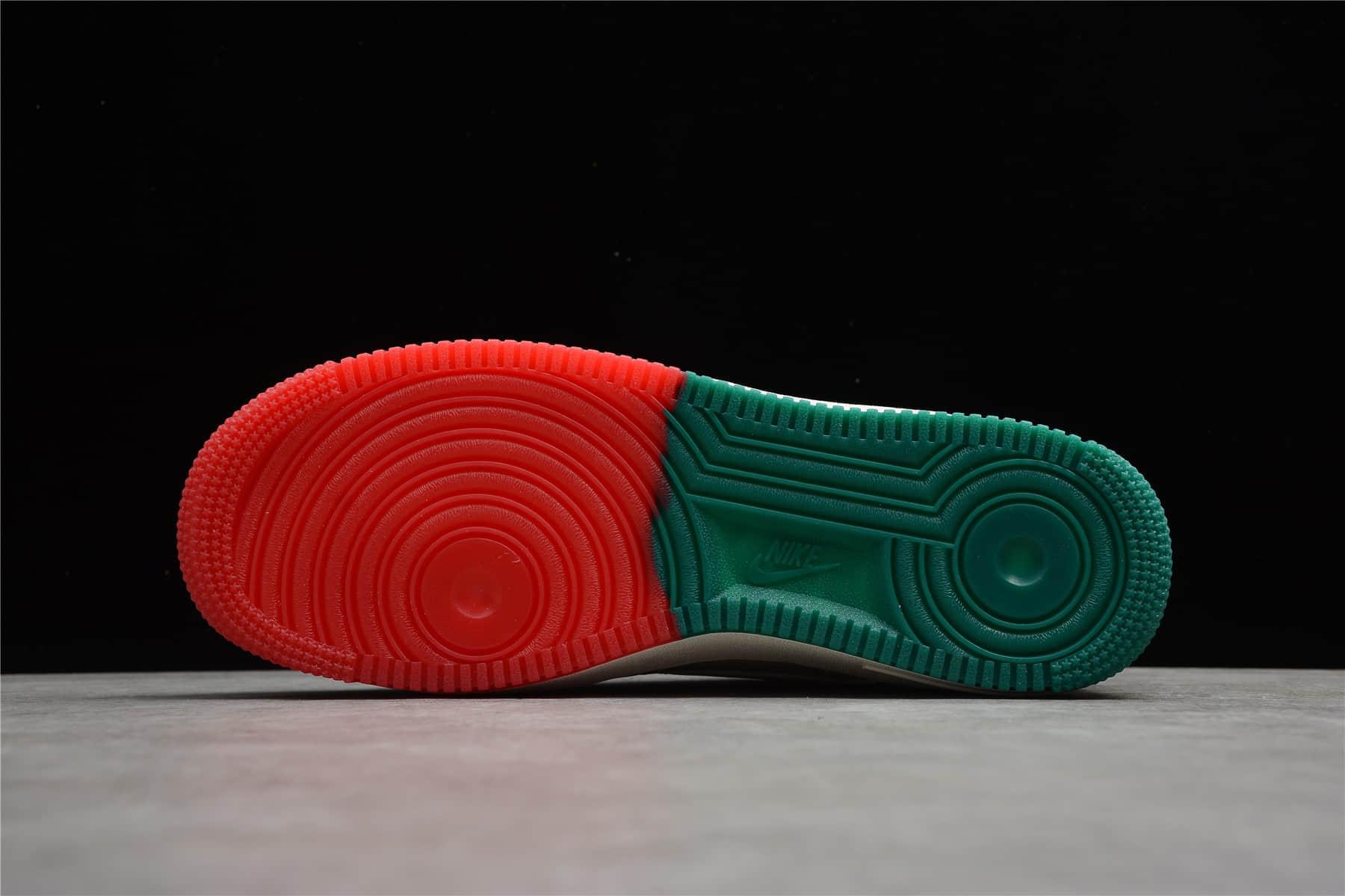 """耐克空军雄鹿队配色 Nike Air Force 1 Low '07 """"米红绿""""密尔沃基雄鹿队 耐克空军城市限定 耐克限量款 货号:BU6638-180-潮流者之家"""