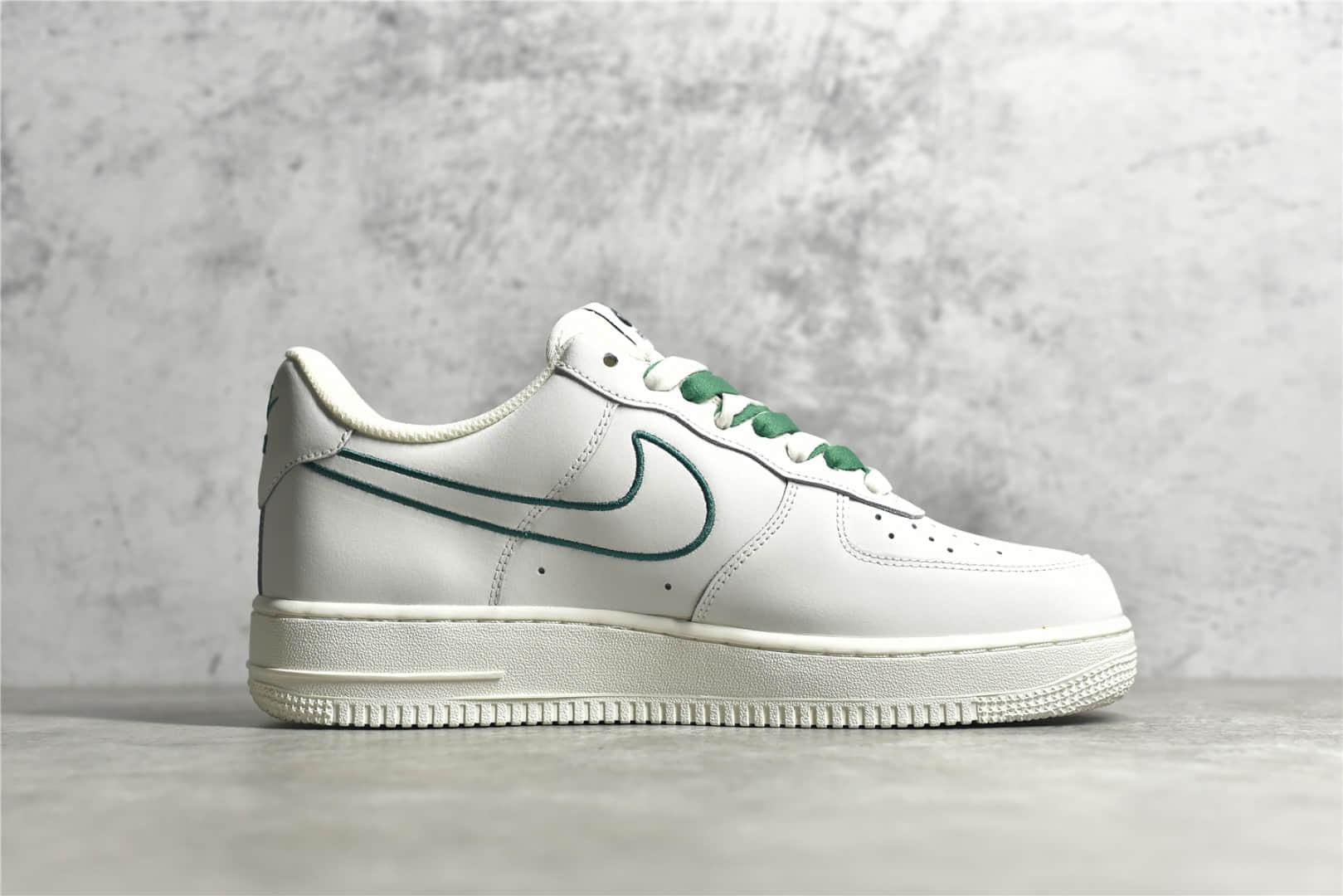 耐克空军一号奶白绿电绣勾 Nike Air Force 1 Low 耐克空军白绿低帮原厂耐克SOLE气垫 货号:CL6326-128-潮流者之家