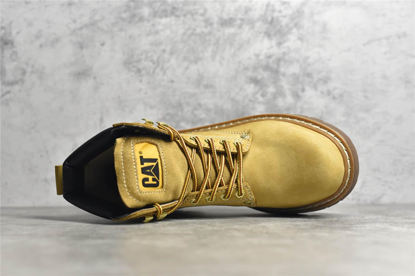 卡特大黄靴高帮 CATFOOTWEAR CAT卡特大黄靴水晶底 冬天高帮保暖靴-潮流者之家