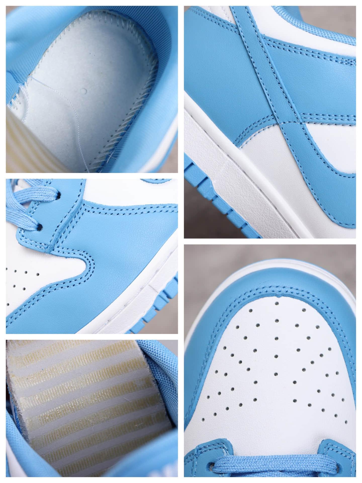 耐克SB Dunk北卡蓝低帮 Nike SB Dunk Low 耐克Dunk大学蓝 耐克Dunk白蓝低帮 货号:DD1391-102-潮流者之家